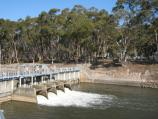 Nagambie / Goulburn Weir and Recreation Area / View west across smaller weir towards west bank of lake