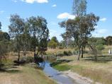 Natimuk / Park along Natimuk Creek, north side of Main Street and Wimmera Highway / View north along Little Natimuk Creek towards Natimuk Creek from footbridge