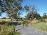 Natimuk / Park along Natimuk Creek, north side of Main Street and Wimmera Highway / View north-east along track beside Natimuk Creek near bridge at Wimmera Hwy