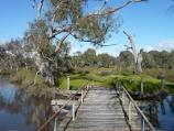 Natimuk / Lake Road along Natimuk Creek / View south-west across footbridge over Natimuk Creek, north of Depot La