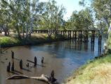 Natimuk / Wimmera River on northern side of Wimmera Highway, east of Natimuk / View north along river towards old railway bridge