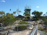 Natimuk / Mount Arapiles - Summit Picnic Area and mountain peak / View of communications towers from summit lookout