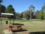 Neerim South / Tarago Reservoir Park / BBQ and table at picnic area