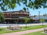 Nhill / Shops and commercial centre, Victoria Street and Nelson Street / Shops along west side of Victoria St at Brougham St
