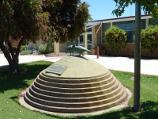 Nhill / Around Nhill / Lowan bird monument at Hindmarsh Shire Council offices