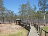 Nhill / Nhill Swamp Boardwalk between Jaypex Park and Lake Nhill / Section of boardwalk leading towards bird hide
