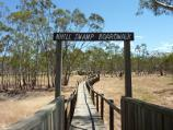 Nhill / Nhill Swamp Boardwalk between Jaypex Park and Lake Nhill / Entrance to boardwalk at lake