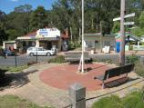 Noojee / Town centre, Bennett Street and Henty Street / View across Bennett St towards general store at Mt Baw Baw Rd junction