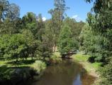 Noojee / Parkland along La Trobe River, east side of Bennett Street / View east along La Trobe River from road bridge