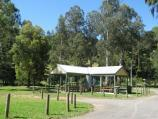 Noojee / Parkland along La Trobe River, east side of Bennett Street / BBQ shelter and picnic grounds off northern end of Bennett St