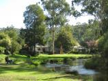 Noojee / Parkland along La Trobe River, east side of Bennett Street / River and parkland behind buildings on Bennett St