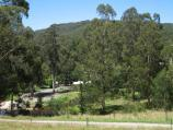 Noojee / Loch Valley Road / View south towards La Trobe River and picnic grounds from Outpost Retreat