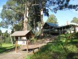 Noojee / Noojee Hotel and surroundings, Mount Baw Baw Road / View of rear of hotel from La Trobe River
