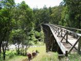 Noojee / Trestle Bridge, Mount Baw Baw Road / View along top of trestle bridge