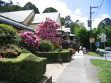 Olinda / Commercial centre and shops, Mt Dandenong Tourist Road at Monbulk Road / View east along Monbulk Rd
