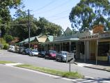 Olinda / Commercial centre and shops, Mt Dandenong Tourist Road at Monbulk Road / View west along Monbulk Rd towards Mt Dandenong Tourist Rd