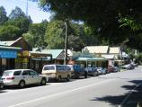 Olinda / Commercial centre and shops, Mt Dandenong Tourist Road at Monbulk Road / View east along Mt Dandenong Tourist Rd towards Monbulk Rd