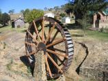 Omeo / A.M. Pearson Historical Park, Day Avenue at Short Street / Water wheel