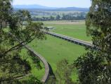 Orbost / Grandview Lookout, Newmerella / View along Princes Hwy and old railway line, Snowy River flats, south-west of Orbost