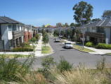 Parkville / Parkville Gardens, west of Oak Street / View south along Sauvage St