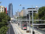 Parkville / Swanston Street area / View south along Swanston St from footbridge at Elgin St