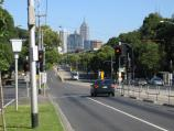 Parkville / Flemington Road area / View south-east along Flemington Rd towards Gatehouse St