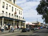 Portarlington / Shops and commercial centre, Newcombe Street / View west along Newcombe St at Grand Hotel