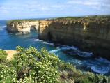 Port Campbell / Loch Ard Gorge, Muttonbird Island, Blow Hole, Thunder Cave / View along Loch Ard Gorge towards Elephant Rock and Island Arch