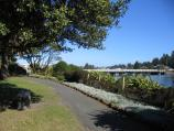 Port Fairy / Botanic Gardens, Griffiths Street / View south along Moyne River through gardens