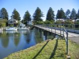 Port Fairy / Moyne River / View west along footbridge over Moyne River