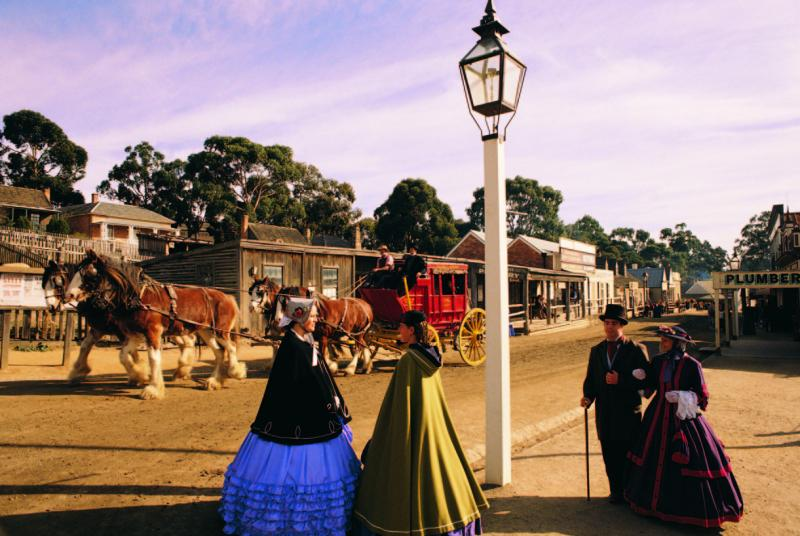 Goldfields highlights - Streetscape at Sovereign Hill