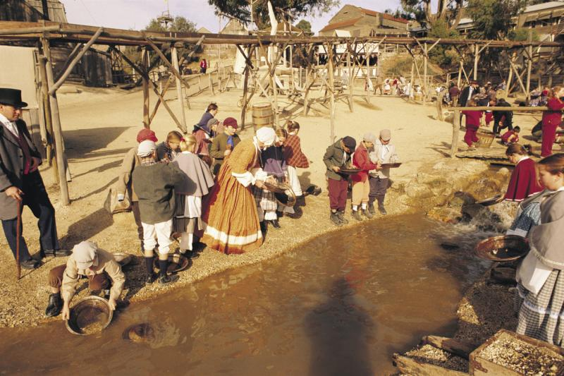 Goldfields highlights - Diggings and gold panning area, Sovereign Hill