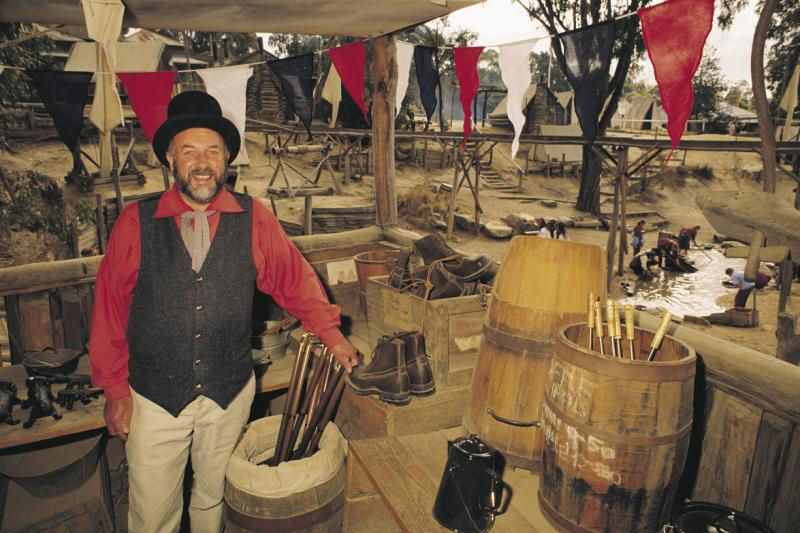 Goldfields highlights - Gold panning area, Sovereign Hill