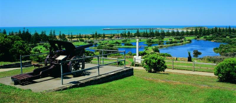 Beyond the Great Ocean Road - View from Cannon Hill over Lake Pertobe, Warrnambool