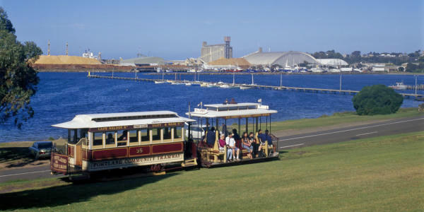 Beyond the Great Ocean Road - Portland Cable Tram on foreshore park