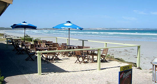 Beyond the Great Ocean Road - Cafe on beach, Cape Bridgewater (photo by Scott & Debra)