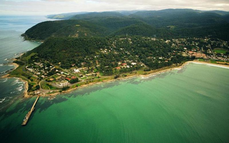 Great Ocean Road coast - Aerial view of Lorne