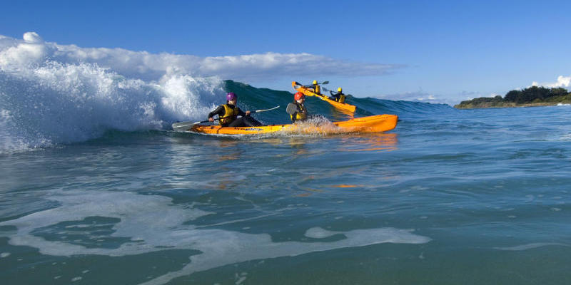 Great Ocean Road coast - Kayaking at Marengo beach