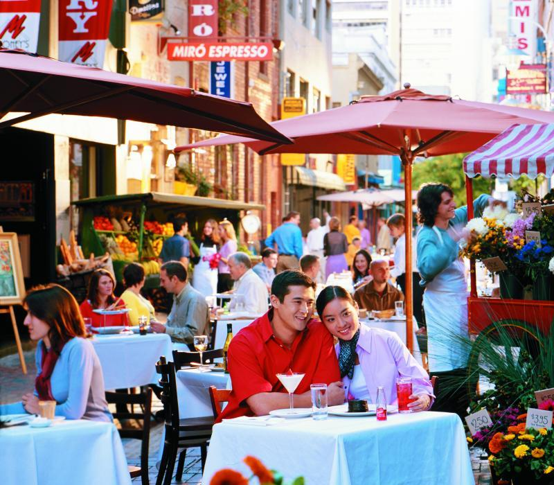 Melbourne City - Dining in Hardware Lane
