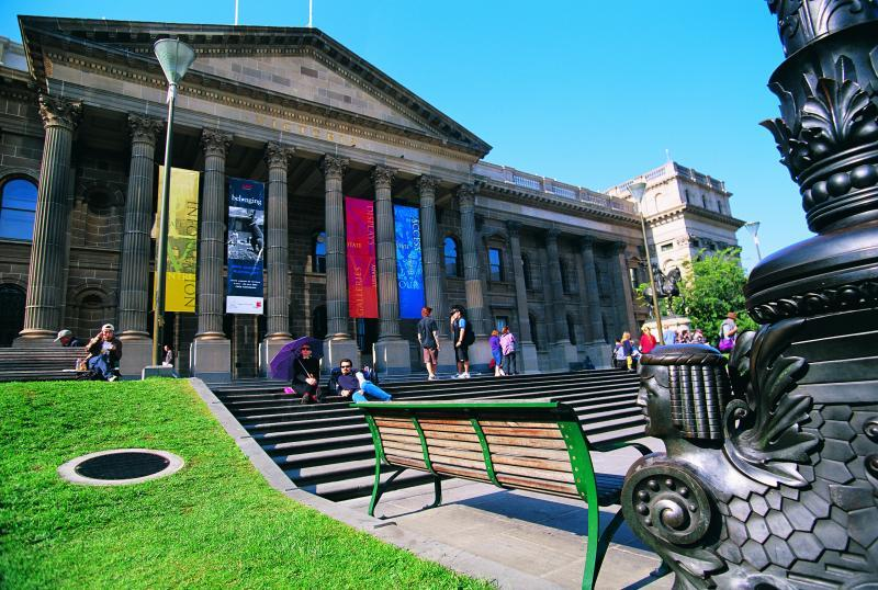 Melbourne City - State Library, Swanston Street