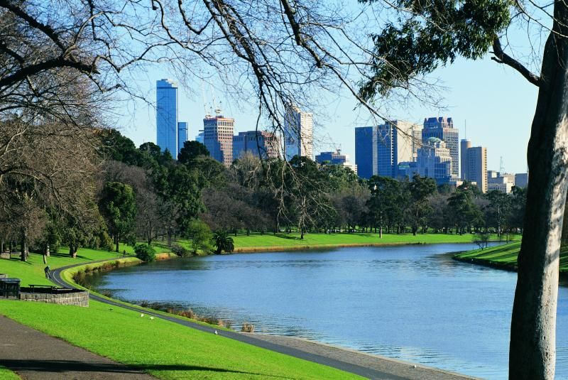 Melbourne City - Yarra River and city skyline