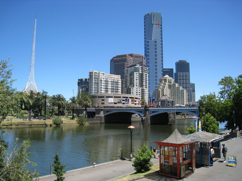 Eureka Skydeck, Southbank - Yarra River, The Arts Centre, Princes Bridge and Eureka Tower