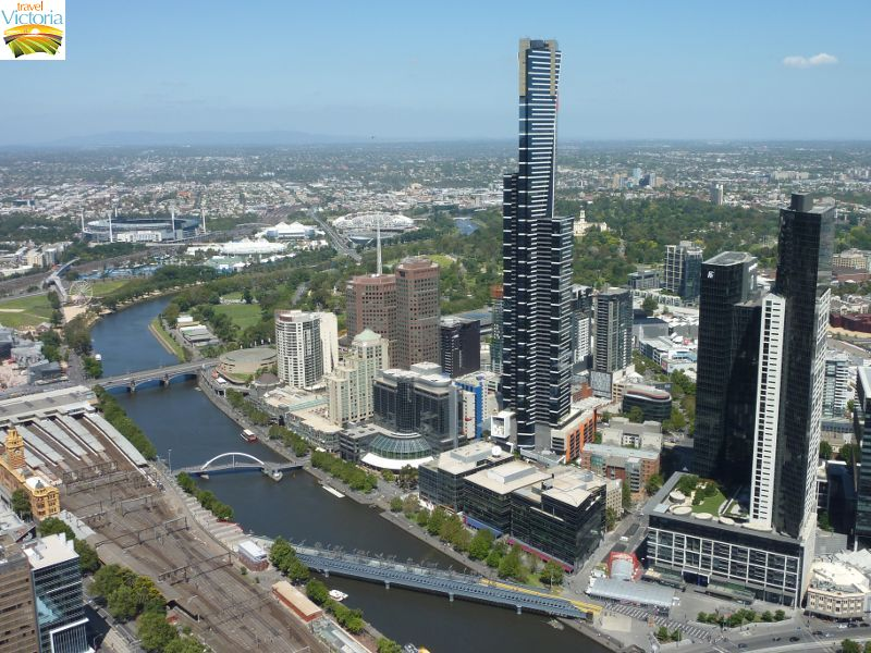 Eureka Skydeck, Southbank - Eureka Tower viewed from Rialto Towers
