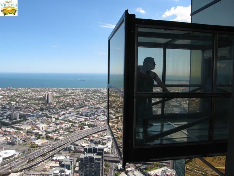 Eureka Skydeck, Southbank - 'The Edge' pops out from the tower