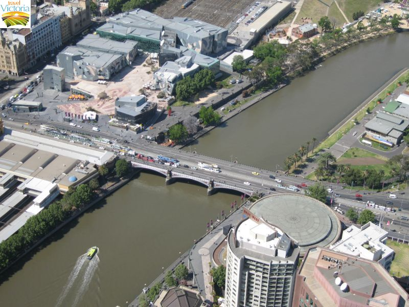 Eureka Skydeck, Southbank - Princes Bridge and Federation Square