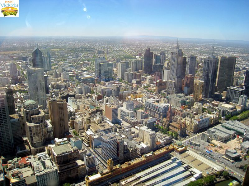 Eureka Skydeck, Southbank - Northerly view over Melbourne CBD