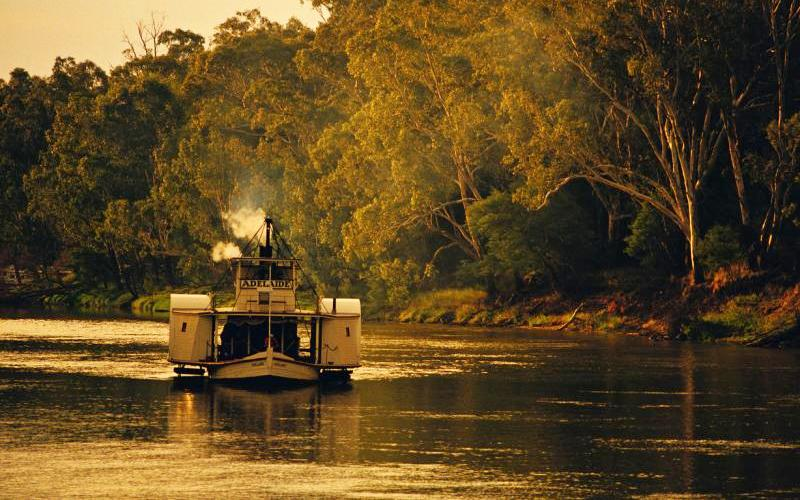 Murray River - Paddle steamer Adelaide at Port of Echuca