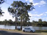 Robinvale / Murray River in town / View across river near boat ramp on River Rd