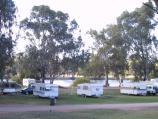 Robinvale / Area round Euston Bridge over Murray River / View to river across caravan park on River Rd