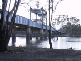 Robinvale / Area round Euston Bridge over Murray River / View north under Euston Bridge across Murray River from caravan park on River Rd